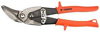 Ножницы TOPEX по металлу, 240 мм, изогнутые левые