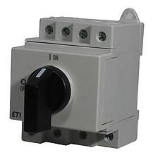 """Выключатель нагрузки ETI  LS 16 SMA A4  4р """"1-0"""" 16A 1000V DC"""