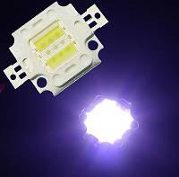 Мощный светодиод 10Вт гибридный (белый+синий)