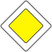 Знаки приоритета — 2.3 Главнвя дорога, дорожные знаки