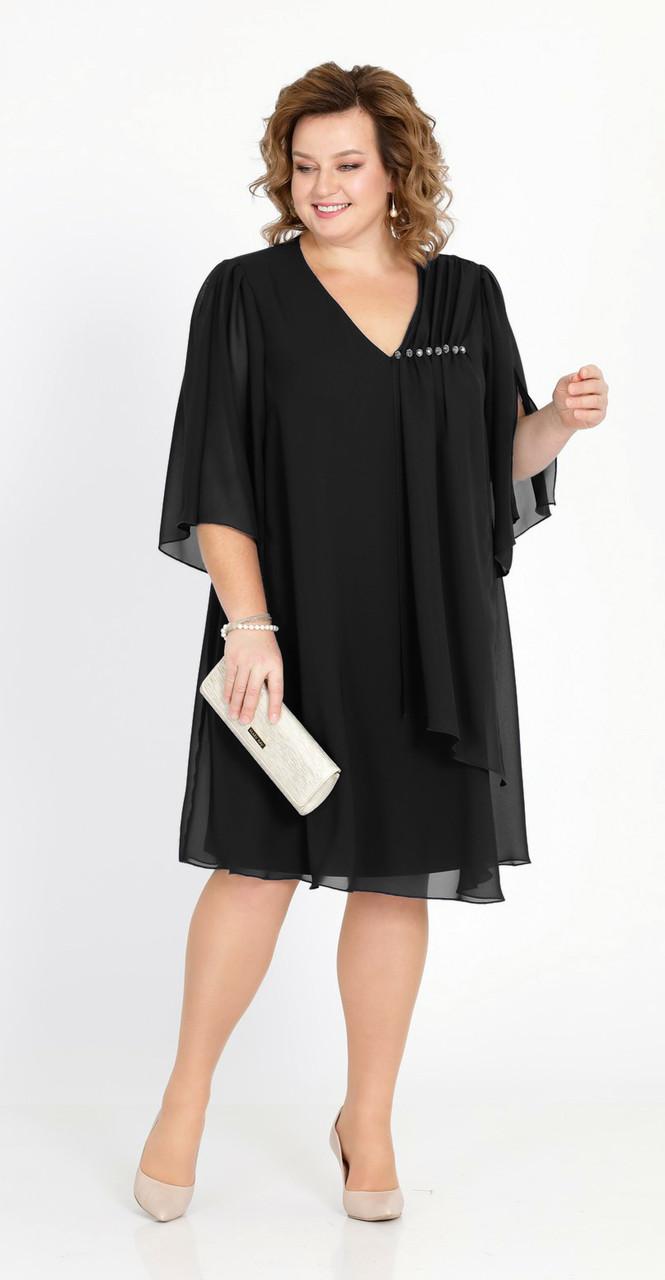 Платье Pretty-805/3 белорусский трикотаж, черный, 50