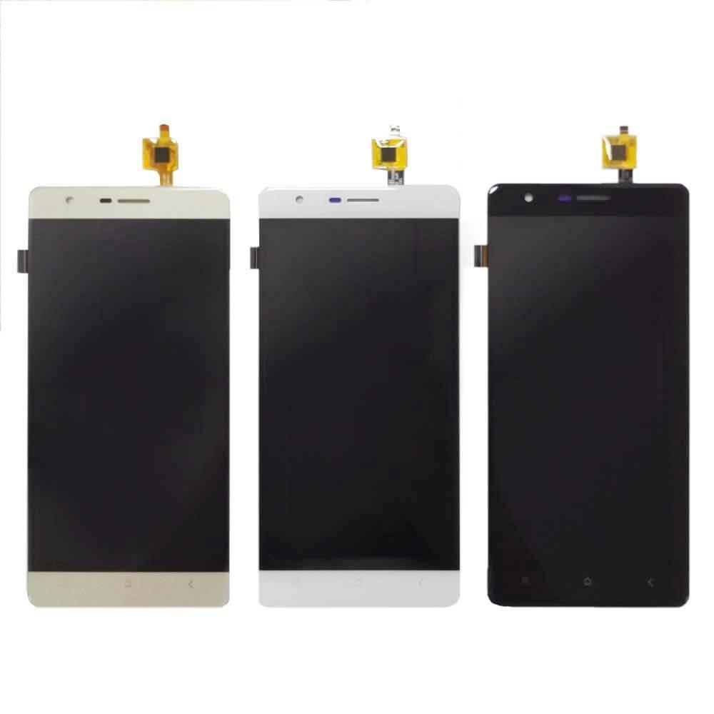 LCD екран з сенсором на Oukitel K4000 Lite. Золотий, Білий