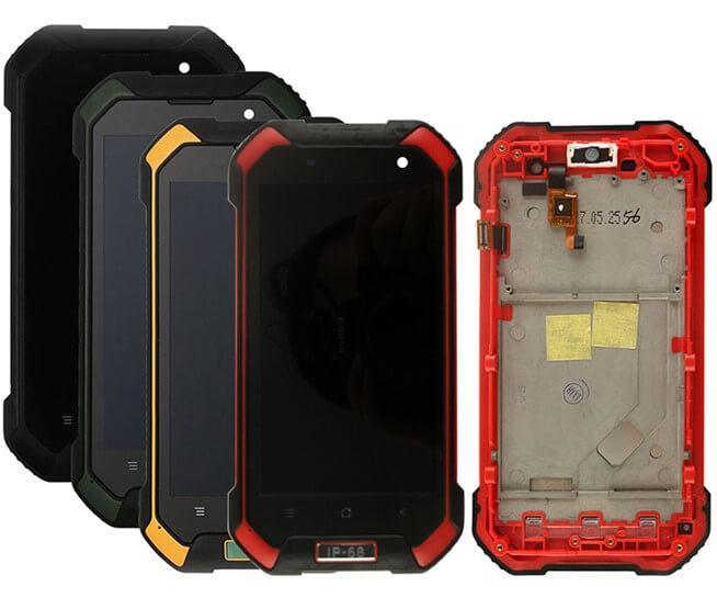 Дисплей з тачскріном і рамкою на Blackview BV6000