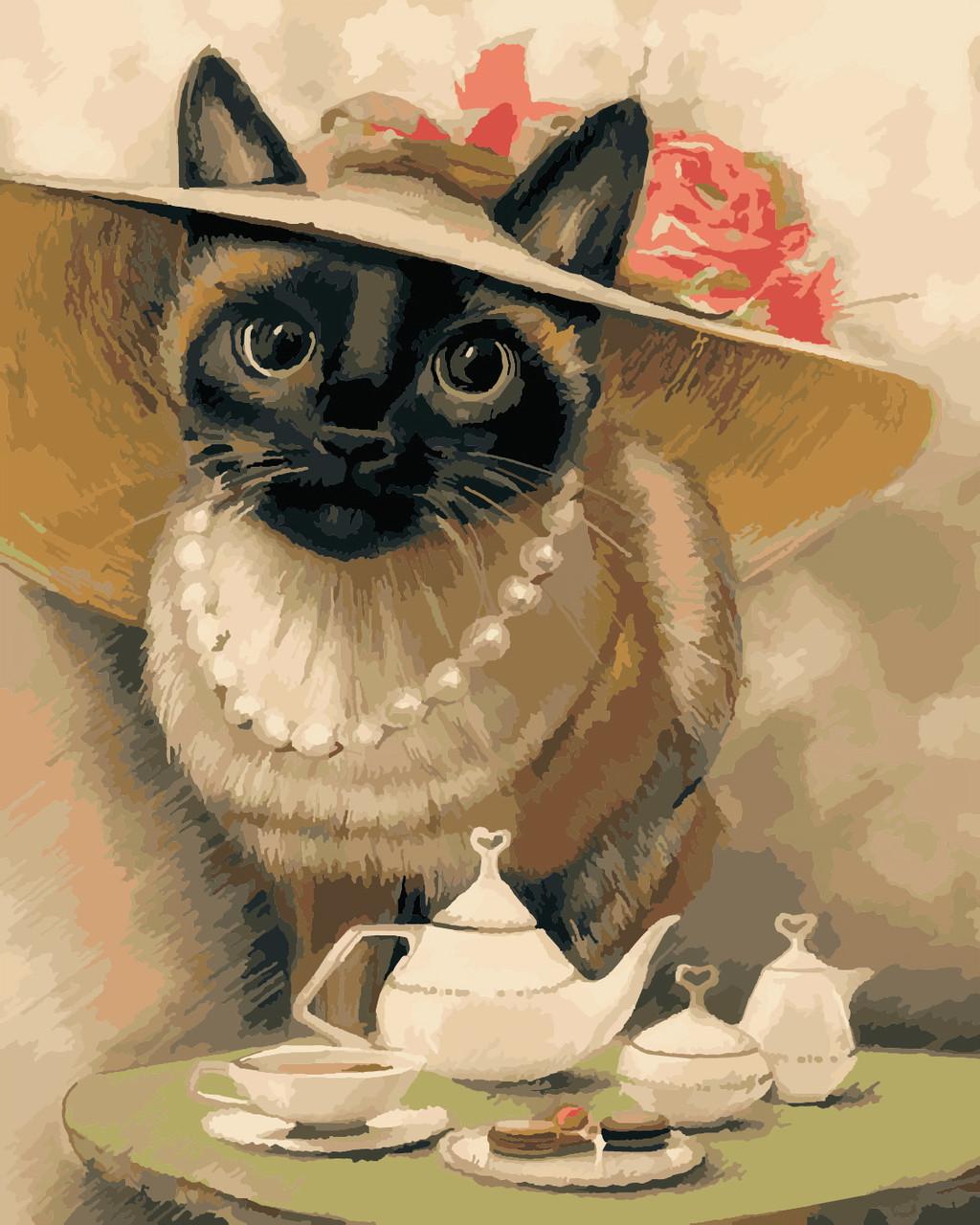 Художественный творческий набор, картина по номерам Леди-кошка, 40x50 см, «Art Story» (AS0391)