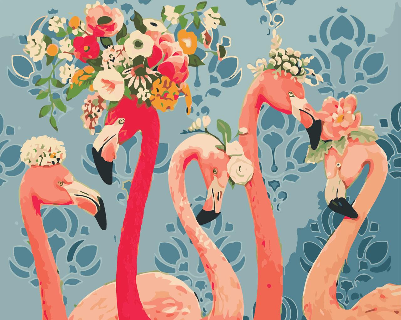 Художественный творческий набор, картина по номерам Красотки фламинго, 50x40 см, «Art Story» (AS0408)