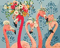 Художественный творческий набор, картина по номерам Красотки фламинго, 50x40 см, «Art Story» (AS0408), фото 1