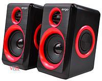 Акустика ERGO S-165 USB 2.0 Red/black