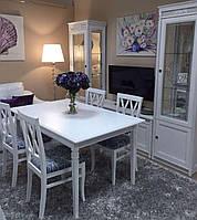 Стол обеденный раскладной Марсель Мебус белый, дуб/белый, фото 1