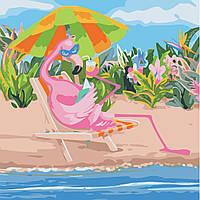 Художественный творческий набор, картина по номерам Фламинго на отдыхе, 40x40 см, «Art Story» (AS0507), фото 1