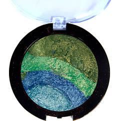 Тени Зелено - Синие Jully Rose запеченные 4-х цветные,