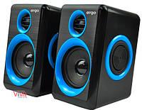 Акустика ERGO S-165 USB 2.0 Blue/black