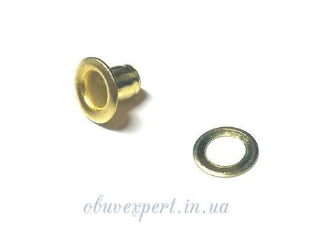 Люверс с шайбой 3 мм Золото, фото 2