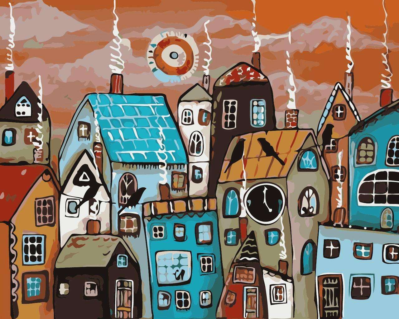 Художественный творческий набор, картина по номерам Сказочный городок, 50x40 см, «Art Story» (AS0364)