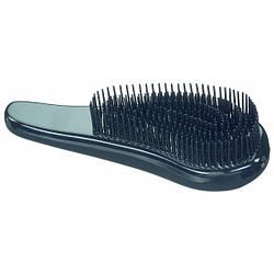 Массажная распутывающая щетка для волос Sibel D-meli-melo, 8491129 матовая черная