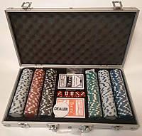 Покерный набор на 300 фишек в кейсе