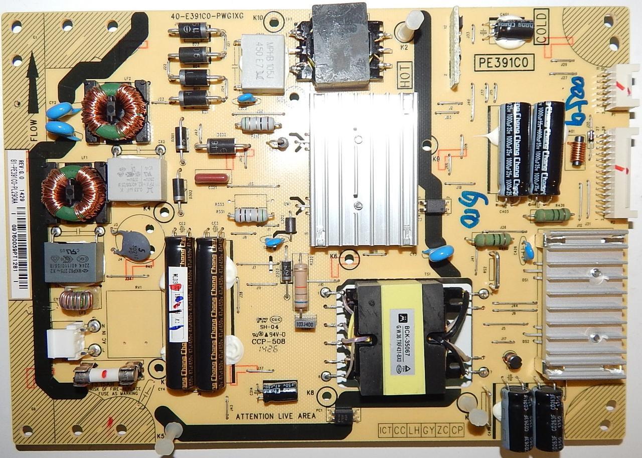Блок питания 40-E391CO-PWG1XG к телевизору TCL u40s7606ds