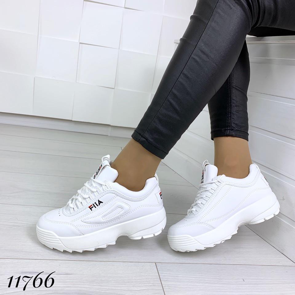 Кросівки Філ жіночі білі на високій підошві, фото 1