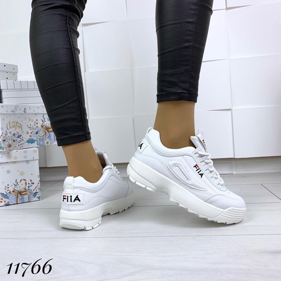 Кросівки Філ жіночі білі на високій підошві, фото 2