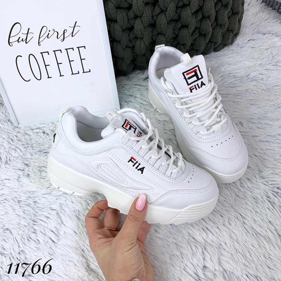 Кросівки Філ жіночі білі на високій підошві, фото 7