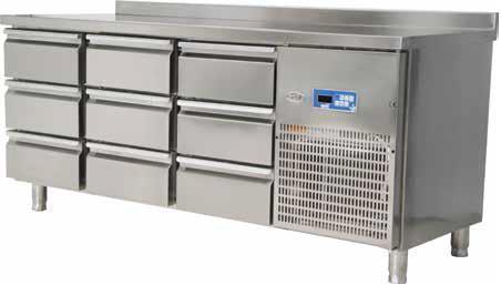 Стол холодильный c выдвижными ящиками 9 шт.Oztiryakiler