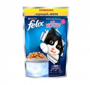 ФЕЛИКС для котят курица в желе 100г