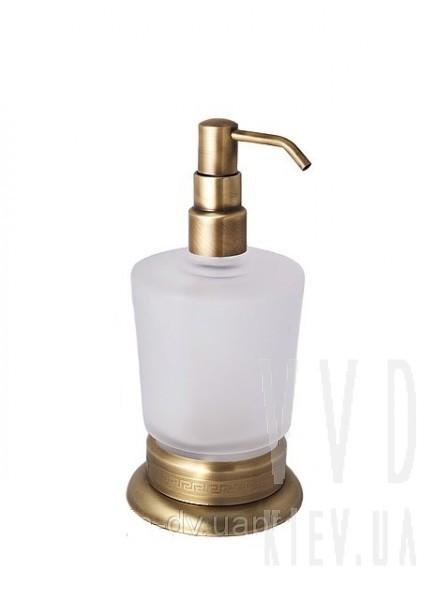 Дозатор для жидкого мыла настольный (бронза)