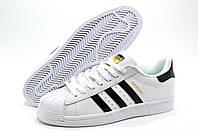 Кроссовки мужские в стиле Adidas Superstar, Белый/Чёрный