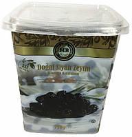 Оливки черные (маслины) вяленые с косточкой 750 г MB Olives 3XS (Турция)