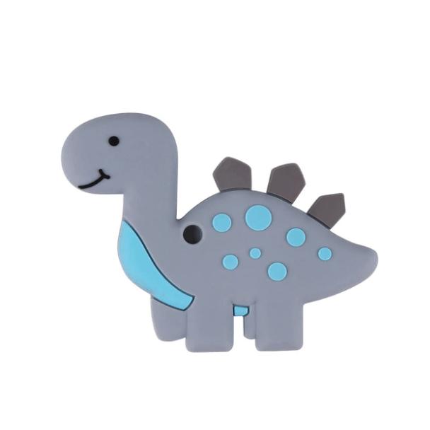 Динозавр (светло-серый), силиконовый прорезыватель для зубов