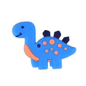 Динозавр (голубой), силиконовый прорезыватель для зубов