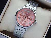 Наручные часы Tommy Hilfiger серебристого цвета, циферблат цвета розовый металлик, фото 1