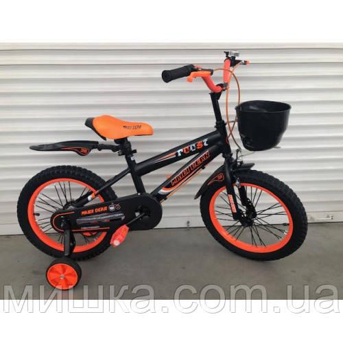 """Велосипед TopRider 240 16"""" оранжевый детский двухколесный"""