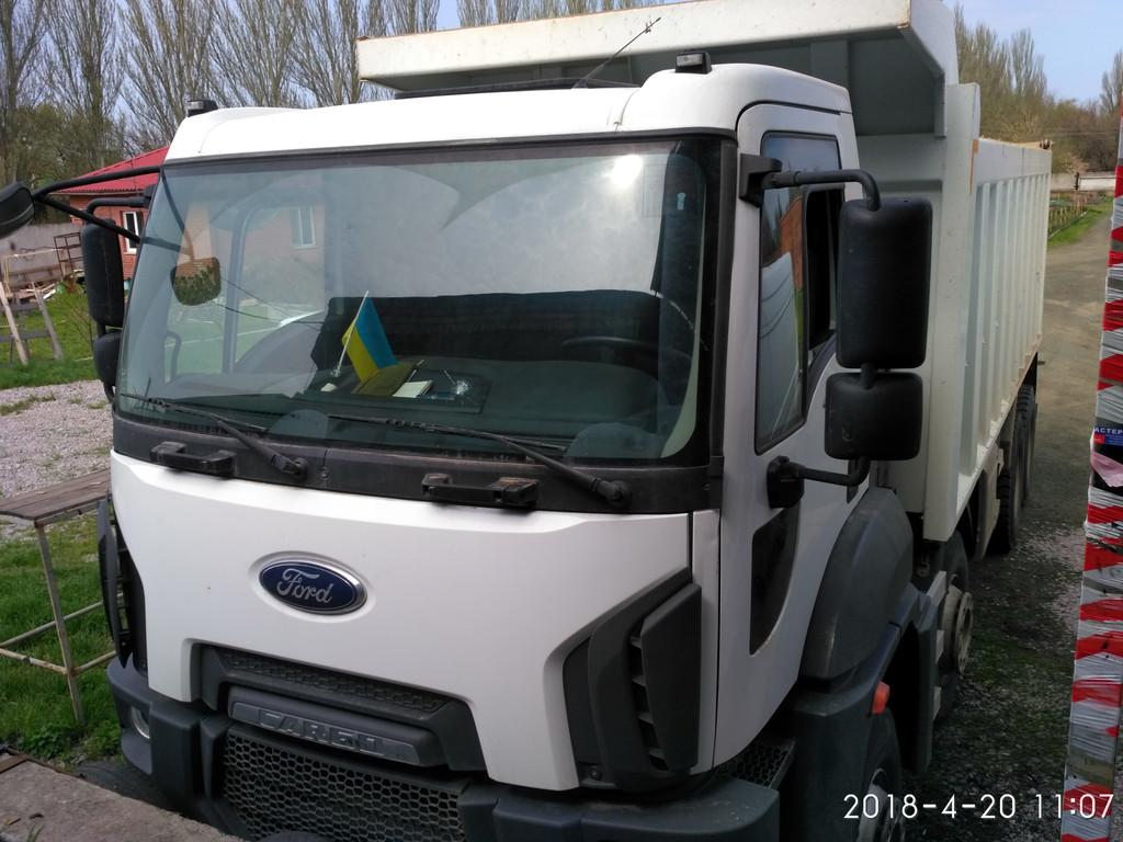 Производств и замена лобового стекла триплекс на грузовике FORD CARGO в Никополе (Украина). 69