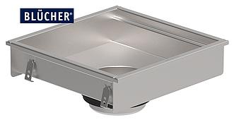 Кухонний канал BLUCHER, нержавіюча сталь, 400x400 мм, DN160, арт. 660FK004-11