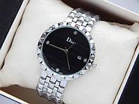 Наручные часы Christian Dior серебристого цвета с черным циферблатом и датой, фото 1