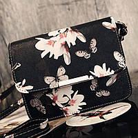 Женская сумка через плечо из PU-кожи с цветочным принтом. 18*15*6см