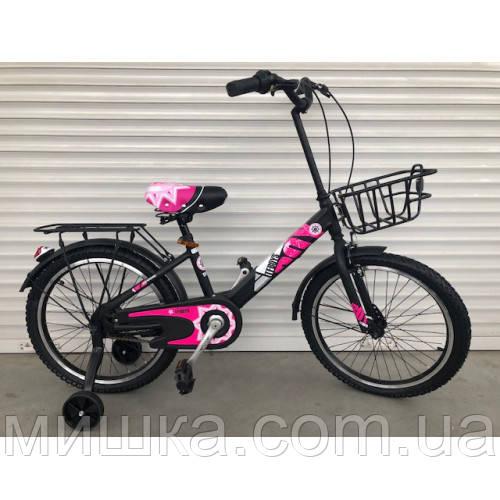 """Велосипед TopRider 703 16"""" розовый детский двухколесный"""