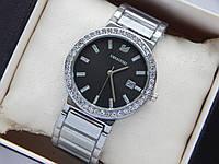 Наручные часы Swarovski серебристого цвета с черным циферблатом и датой, фото 1