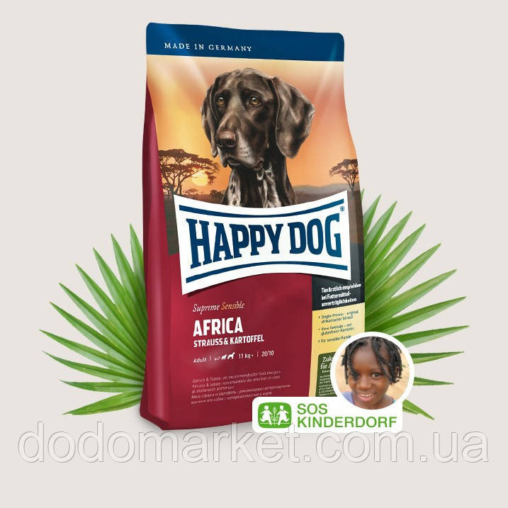 Сухой корм для собак Happy Dog Supreme Sensible Africa 12.5 кг