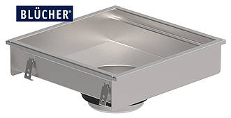 Кухонний канал BLUCHER, нержавіюча сталь, 500x500 мм, DN110 арт. 660GH005-11