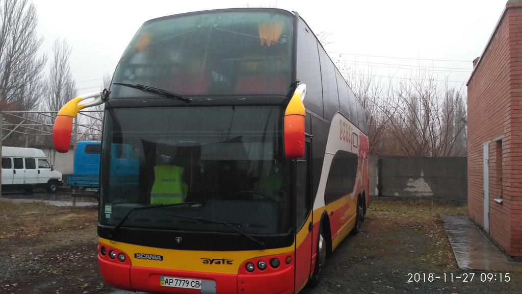Производств и замена лобового стекла триплекс на автобусе Ayats Bravo 1  в Никополе (Украина). 55