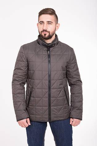 Куртка мужская демисезонная на синтепоне CW14MC01 серо-коричневая, фото 2