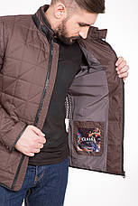 Куртка мужская демисезонная на синтепоне CW14MC01 шоколадная, фото 3