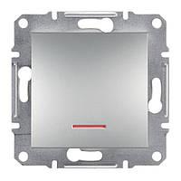 Кнопка с подсветкой Schneider Electric Asfora алюминий EPH1600161