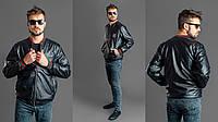 """Мужская куртка кожа """" GUCCI """", фото 1"""