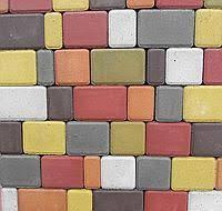 """Тротуарная плитка """"Старый город"""" 180х120, 120х120, 90х120, 60х120 мм. высота 60 мм. цвет серый."""