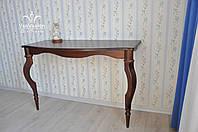 Консольный столик из натурального дерева, фото 1