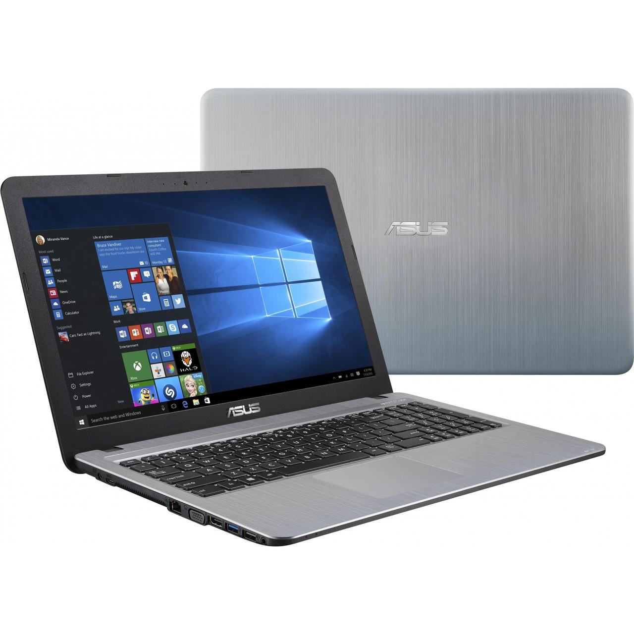 """ϞНоутбук 15,6"""" Asus X540MA (X540MA-GQ008) Silver Gradient Intel Celeron N4000 Graphics 600 RAM 4 ГБ HDD 500 ГБ"""