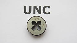 Плашка дюймовая UNC 1\4 20 ниток на дюйм KRINO