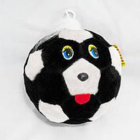 Мягкая игрушка Мячик с глазками 21см черно-белый (131-1)